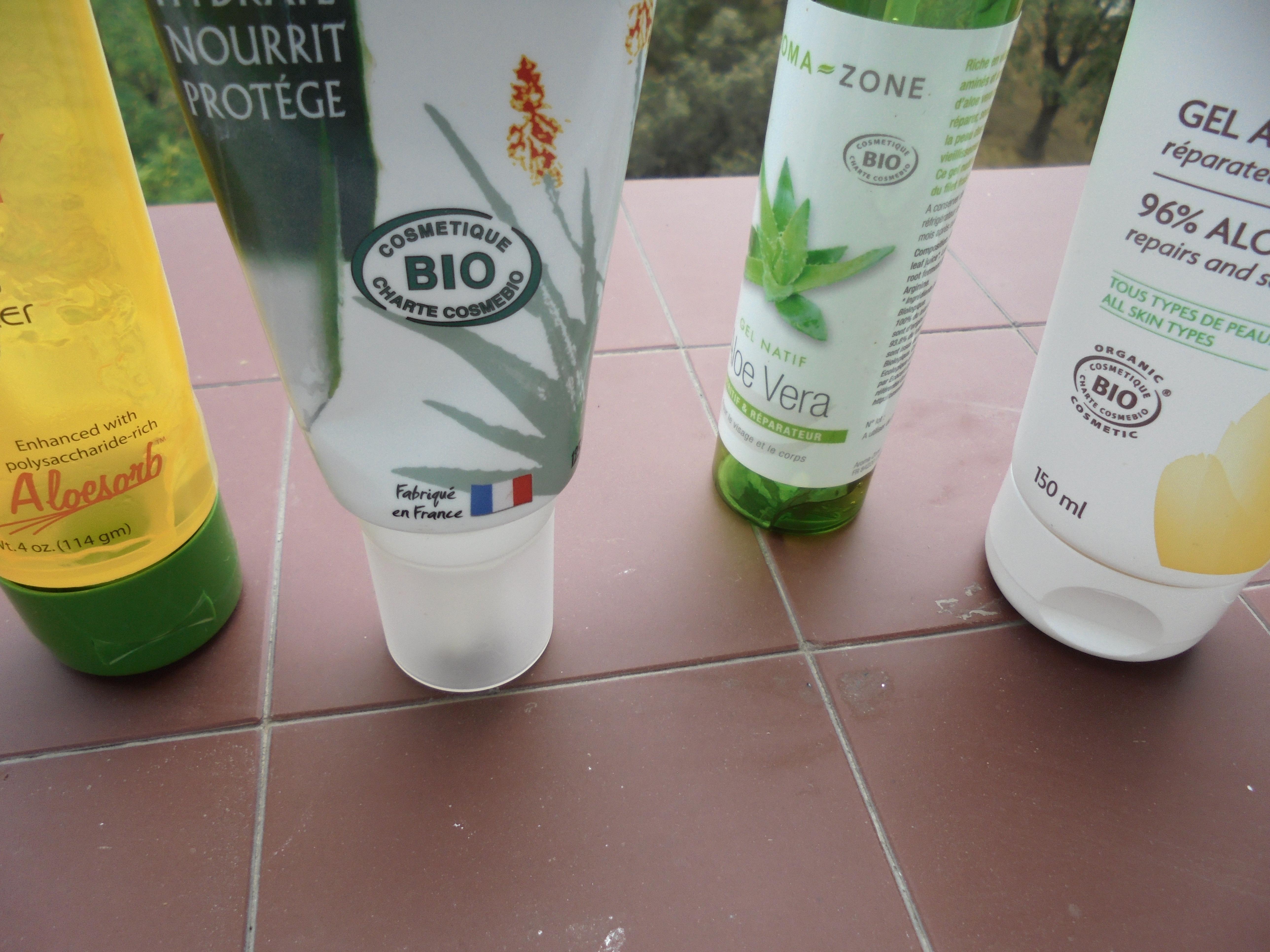 J ai test 4 gels d aloe vera ce que j en pense run - Gel aloe vera pas cher ...