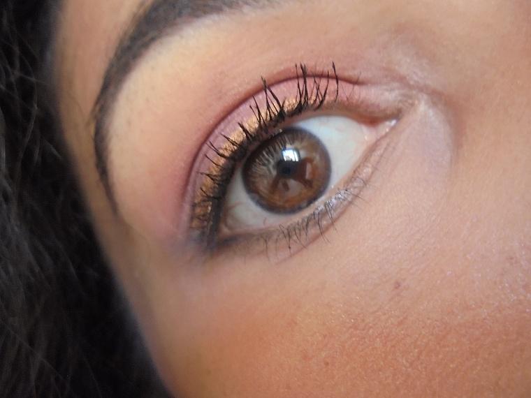 makeup doré métallique